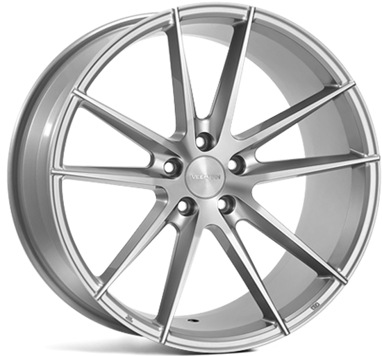 "19"" Veemann V-FS25 Silver Machined Alloy Wheels"