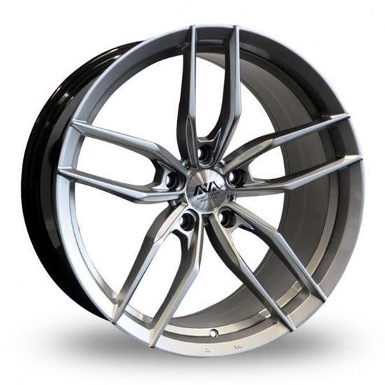 Ava Chicago Alloy Wheels Hyper Silver