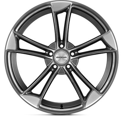 "20"" Veemann VM1 Sapphire Grey Alloy Wheels"