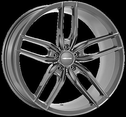 """22"""" Veemann V-FS28  Gloss Graphite Alloy Wheels"""