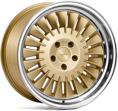 "18"" Ispiri Wheels CSR1D Vintage Gold Alloy Wheels"