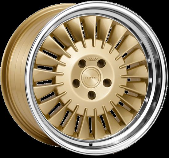 "18"" Ispiri Wheels CSR1D Vintage Gold Alloy Wheels"