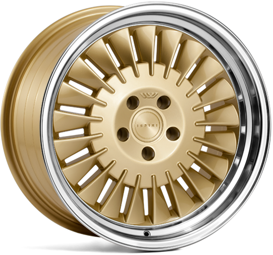 "19"" Ispiri Wheels CSR1D Vintage Gold Alloy Wheels"