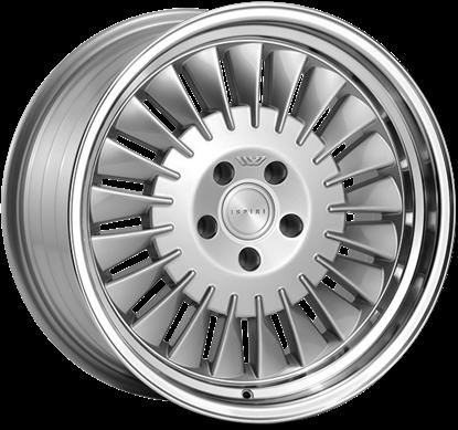 "19"" Ispiri Wheels CSR1D Pure Silver Alloy Wheels"