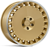 "19"" Ispiri Wheels CSRD TF Vintage Gold Alloy Wheels"