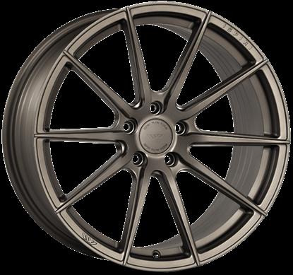 "19"" Ispiri FFR1 Matt Carbon Bronze Alloy Wheels"