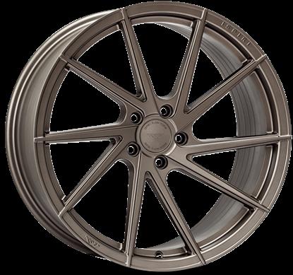 "19"" Ispiri FFR1D Matt Carbon Bronze Alloy Wheels"