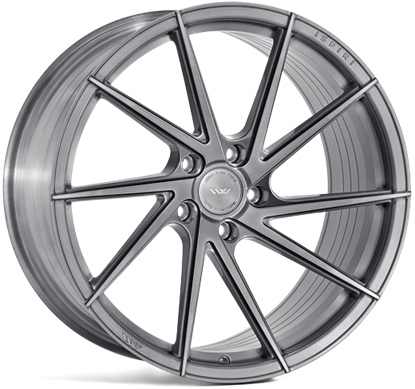 "19"" Ispiri FFR1D Full Brushed Carbon Titanium Alloy Wheels"