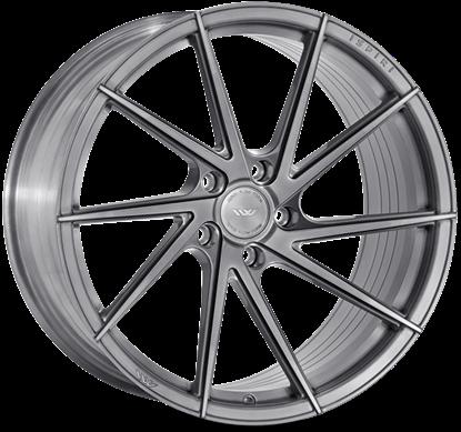 "20"" Ispiri FFR1D Full Brushed Carbon Titanium Alloy Wheels"