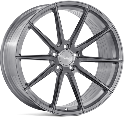 "21"" Ispiri FFR1D Full Brushed Carbon Titanium Alloy Wheels"