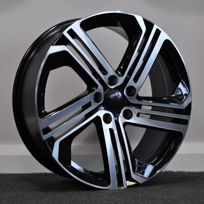 "18"" RAW R400 Style Alloy Wheels - Black and Polished"