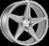 """20"""" Ispiri FFR5 Pure Silver Alloy Wheels"""