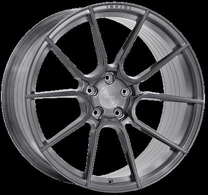 "19"" Ispiri FFR6 Full Brushed Carbon Titanium Alloy Wheels"