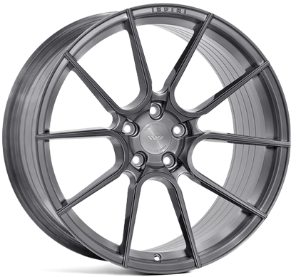 "21"" Ispiri FFR6 Full Brushed Carbon Titanium Alloy Wheels"