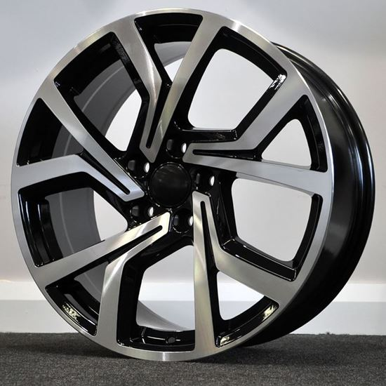 RAW ClubSport Style Alloy Wheels - Black Machine Faced