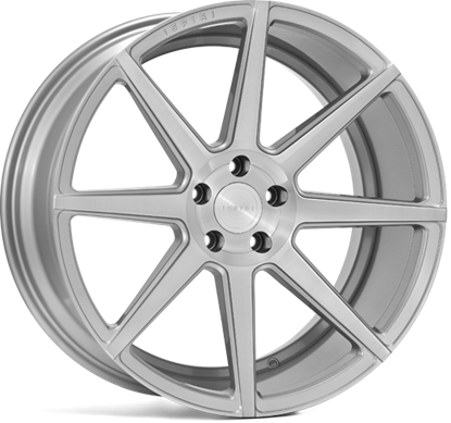 "19"" Ispiri ISR8 Pure Silver Alloy Wheels"