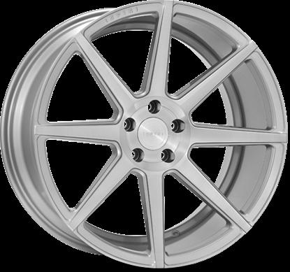 "20"" Ispiri ISR8 Pure Silver Alloy Wheels"