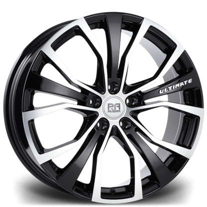 """20"""" Riviera Ultimate Black Polished Alloy Wheels"""