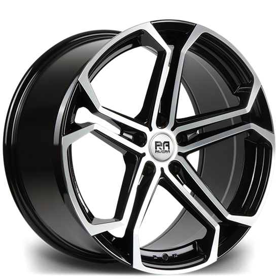"20"" Riviera Commercial Atlas Black Polished Alloy Wheels"