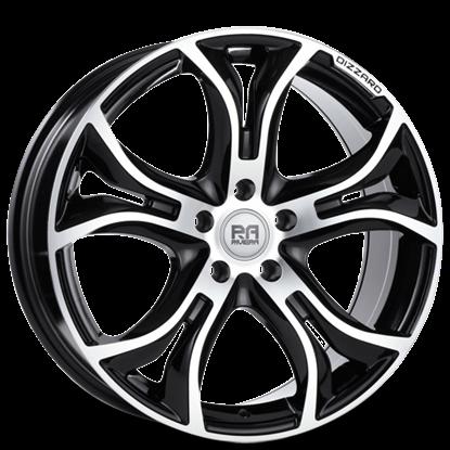 "20"" Riviera Dizzard Black Polished Alloy Wheels"