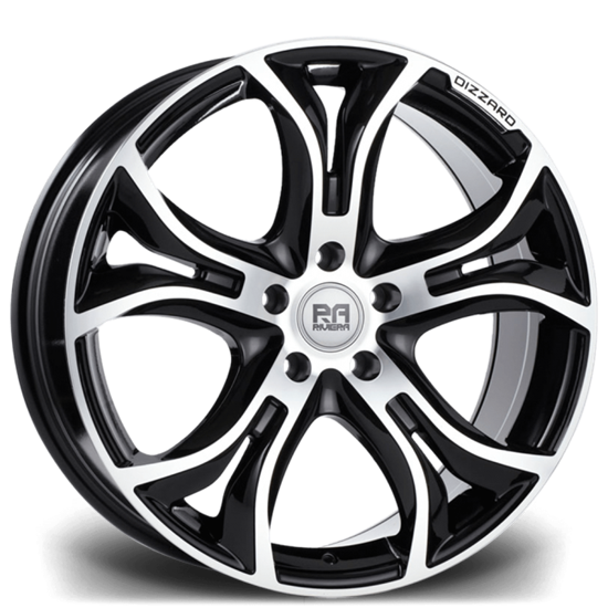 "20"" Riviera Dizzard Black Polished Alloy Wheels"