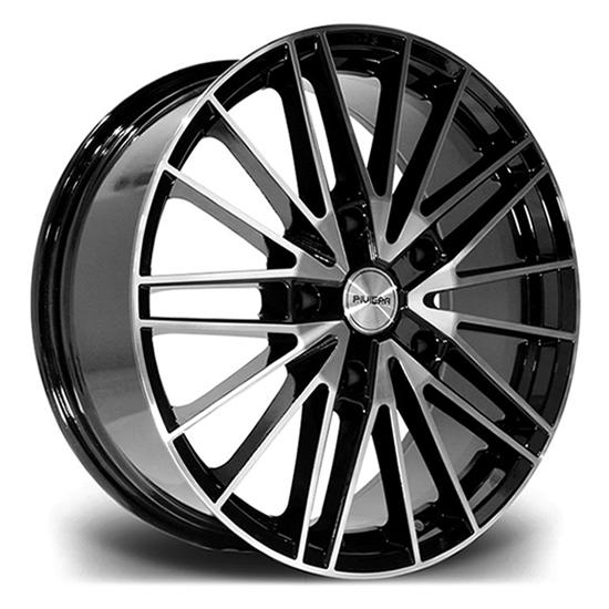"20"" Riviera RTS Black Polished Face Alloy Wheels"