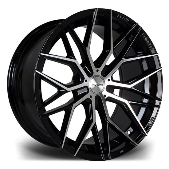 "20"" Riviera RF101 Black Polished Alloy Wheels"