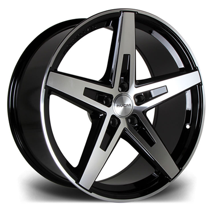 "19"" Riviera RF102 Black Polished Alloy Wheels"