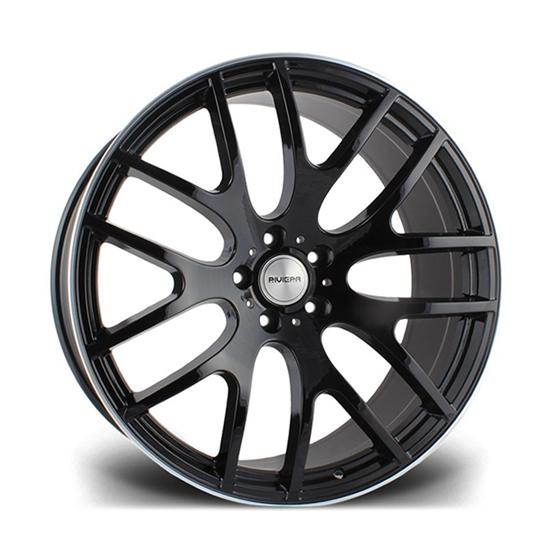 "22"" Riviera RV117 Gloss Black Polished Alloy Wheels"