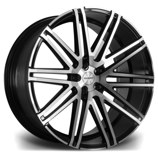 "20"" Riviera RV120 Black Polished Alloy Wheels"