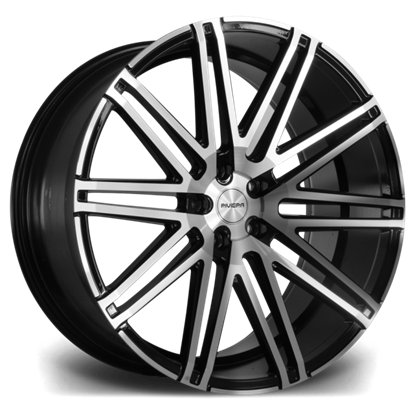 "22"" Riviera RV120 Black Polished Alloy Wheels"