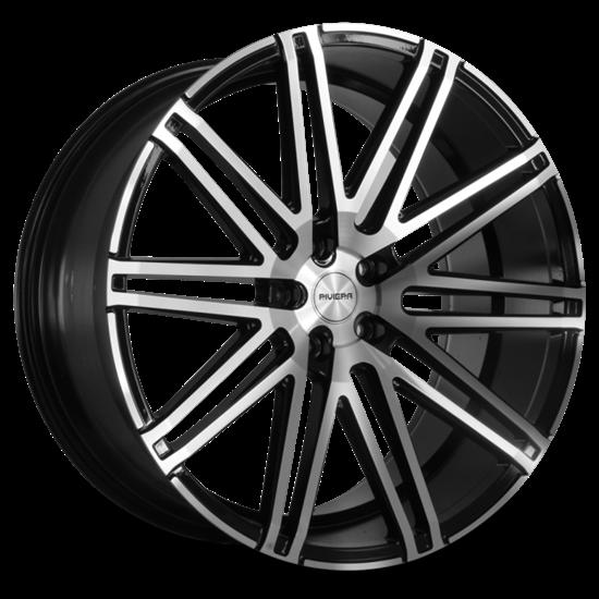 "22"" Riviera RV120 Black Polished Alloy Wheels"