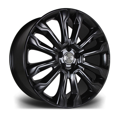 "22"" Riviera RV124 Satin Black Alloy Wheels"