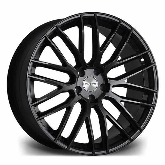 "22"" Riviera RV126 Matt Black Polished Alloy Wheels"