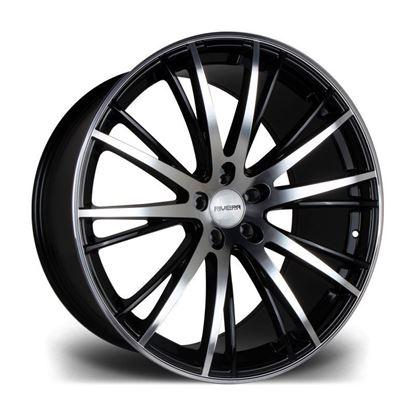 "22"" Riviera RV128 Gloss Black Polished Face Alloy Wheels"