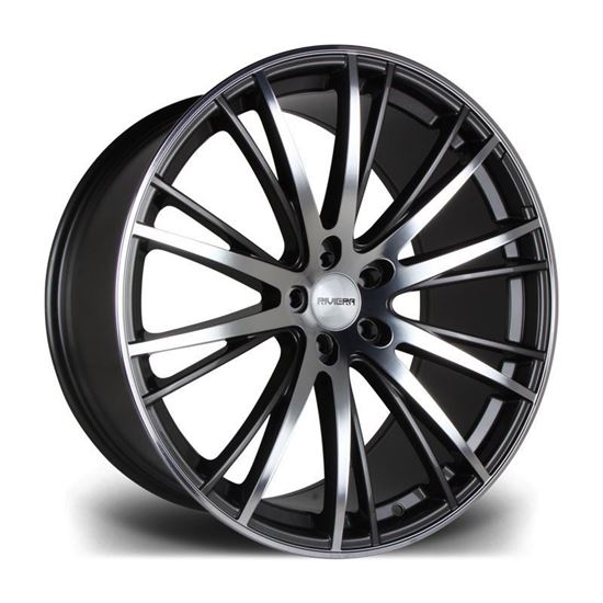 "22"" Riviera RV128 Matt Gun Metal Alloy Wheels"
