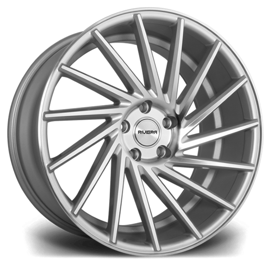 "19"" Riviera RV135 Silver Polished Alloy Wheels"