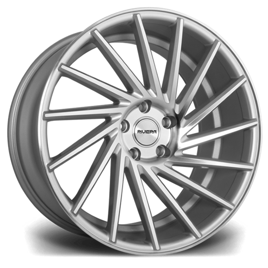 "20"" Riviera RV135 Silver Polished Alloy Wheels"
