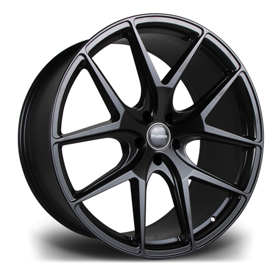 "22"" Riviera RV136 Matt Black Alloy Wheels"