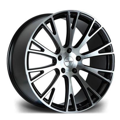 "20"" Riviera RV150 Gloss Black Polished Alloy Wheels"