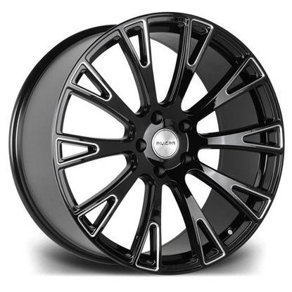 "20"" Riviera RV150 Gloss Black Milled Edge Alloy Wheels"