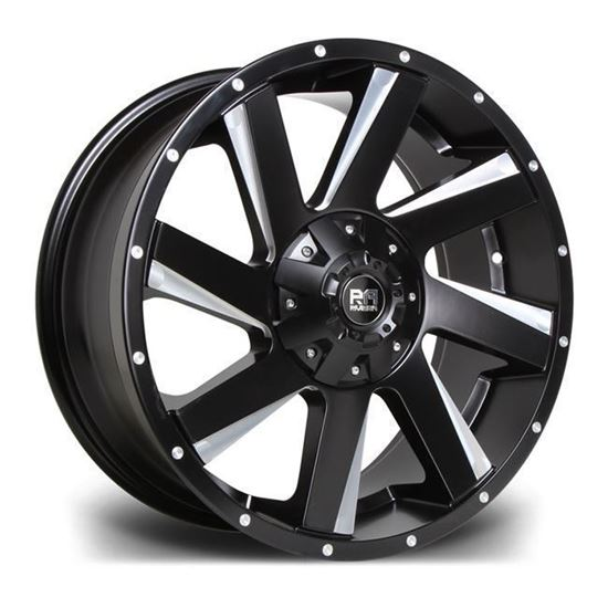 "18"" Riviera RX100 Black Polished Alloy Wheels"