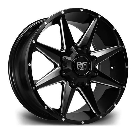 "18"" Riviera RX200 Black Polished Alloy Wheels"