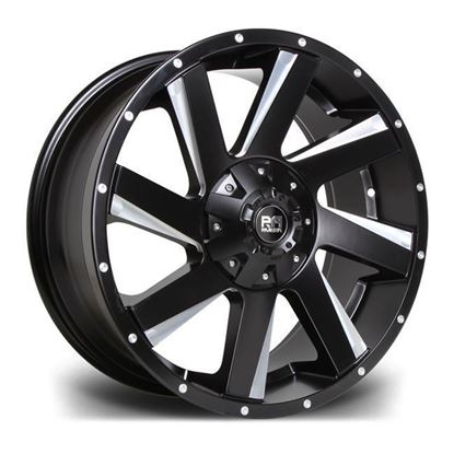 "19"" Riviera RX100 Black Polished Alloy Wheels"