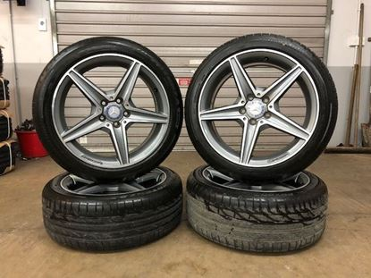 Genuine Mercedes C Class Alloy Wheels with Tyres.