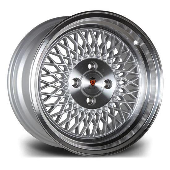 "15"" Stuttgart ST1 Silver Polished Lip Alloy Wheels"