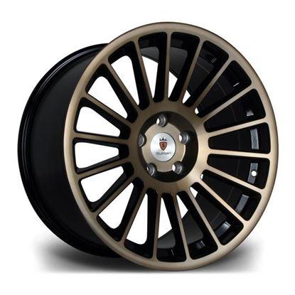 """18"""" Stuttgart ST2 Black Bronze Alloy Wheels"""