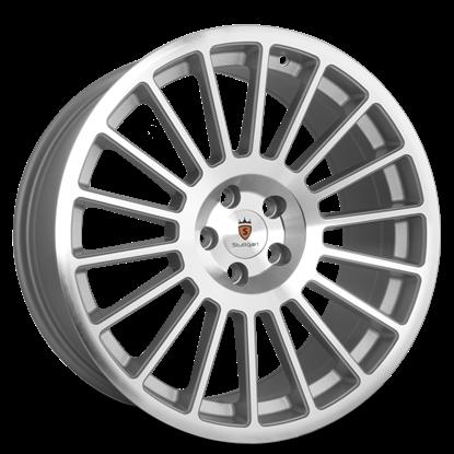 "18"" Stuttgart ST2 Silver Polished Alloy Wheels"