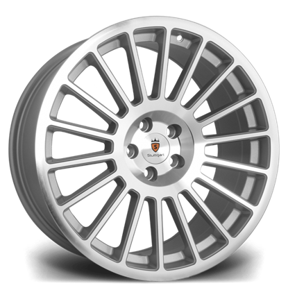 "19"" Stuttgart ST2 Silver Polished Alloy Wheels"