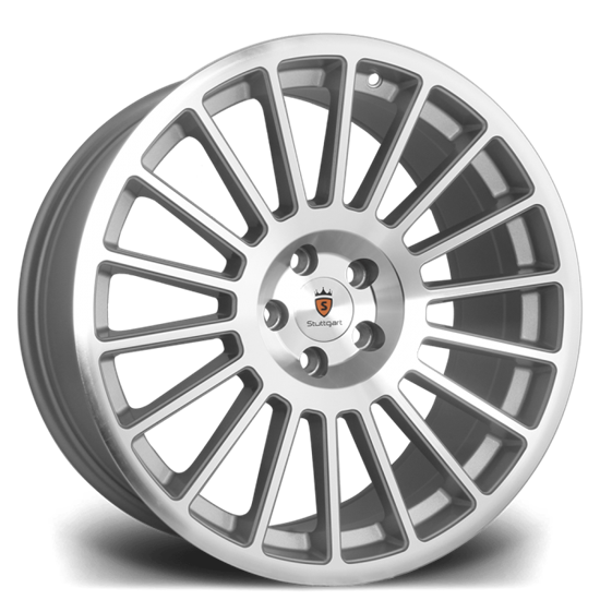 "19"" Stuttgart ST2 Silver Polished Alloy Wheels"